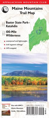 AMC Map Baxter State Park - Katahdin and 100-Mile Wilderness By Appalachian Mountain Club